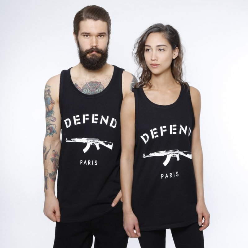 Defend Paris Paris Deb -tank top
