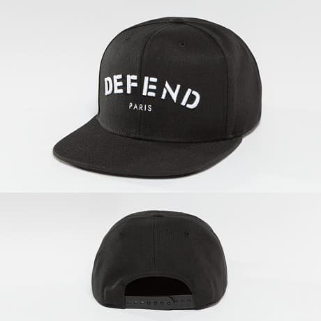 Defend Paris Snapback Lippis Musta