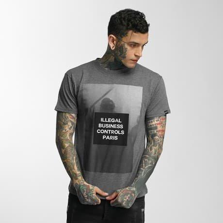 Defend Paris T-paita Harmaa