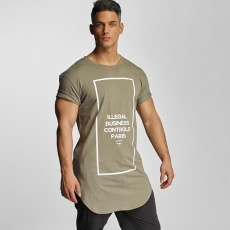 Defend Paris T-paita Khakiruskea