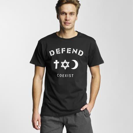 Defend Paris T-paita Musta