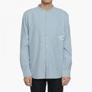 Denim By Vanquish & Fragment Selvage Oxford Stand Collar Shirt
