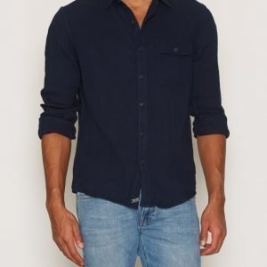Denim & Supply Ralph Lauren 1PK Reg-Long Sleeve Sport Kauluspaita Midnight Blue