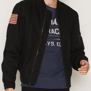 Denim & Supply Ralph Lauren Bomber Lined Jacket Takki Black
