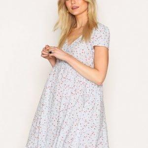 Denim & Supply Ralph Lauren Button Front Short Sleeve Dress Loose Fit Mekko Floral