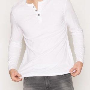 Denim & Supply Ralph Lauren Henley Long Sleeve Knit Pusero White