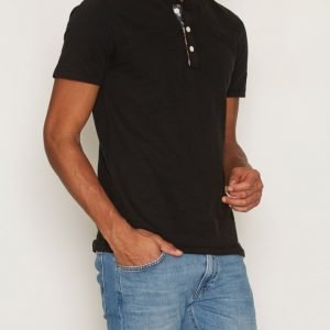 Denim & Supply Ralph Lauren Henley Short Sleeve T-paita Black