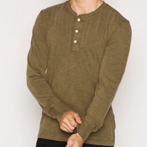 Denim & Supply Ralph Lauren LSL Henley Pusero Olive