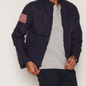 Denim & Supply Ralph Lauren Motorcycle Unlined Jacket Takki Navy