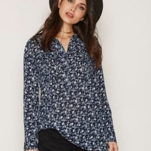 Denim & Supply Ralph Lauren Pintuck Long Sleeve Casual Dress Pitkähihainen Mekko Floral / Navy