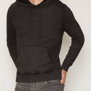 Denim & Supply Ralph Lauren Popover Hood Long Sleeve Knit Pusero Black