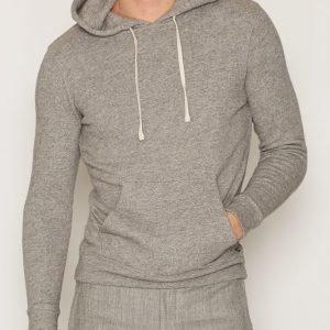 Denim & Supply Ralph Lauren Popover Hood Long Sleeve Knit Pusero Heather