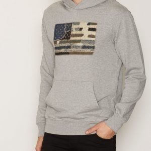 Denim & Supply Ralph Lauren Popover Hood Long Sleeve Knit Pusero Heather