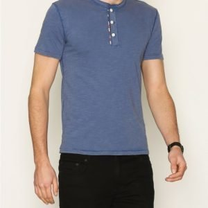 Denim & Supply Ralph Lauren SS Flag Placket Henley T-paita Blue