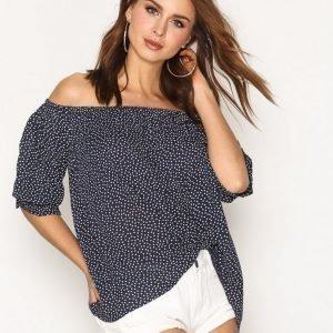Denim & Supply Ralph Lauren Summertime Long Sleeve Blouse Arkipaita Dots