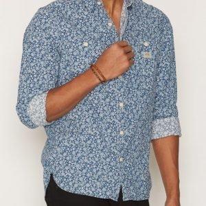 Denim & Supply Ralph Lauren Work 2PK Reg-Long Sleeve Sport Kauluspaita Print