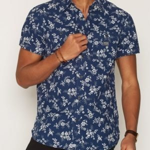 Denim & Supply Ralph Lauren Work 2PK Reg-Short Sleeve Sport Kauluspaita Print