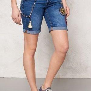 Desigual Africa Denim Shorts Jeans Vaquero