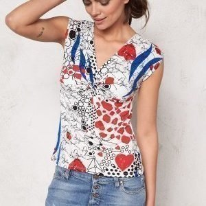 Desigual Shine Top Blanco Nieve