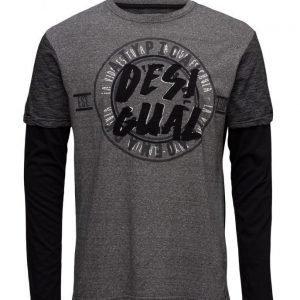 Desigual Ts Mr Grey pitkähihainen t-paita
