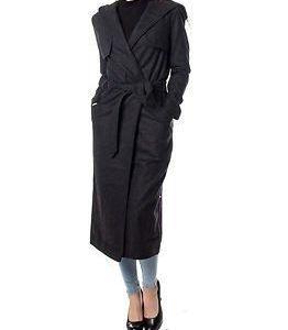Desires Gaia Coat Dark Grey Melange