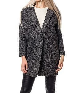 Desires Gea Coat Dark Grey Melange