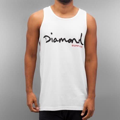 Diamond Hihaton Paita Valkoinen