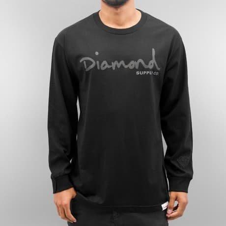 Diamond Pitkähihainen Paita Musta