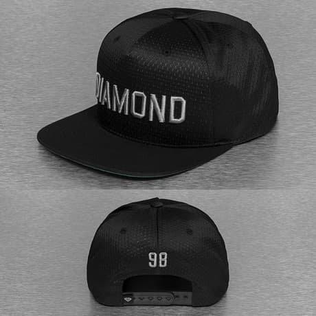 Diamond Snapback Lippis Musta