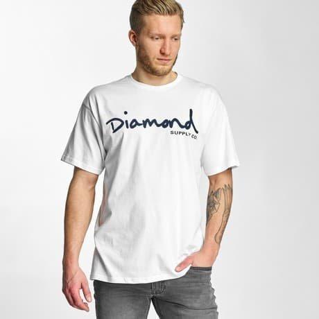 Diamond T-paita Valkoinen