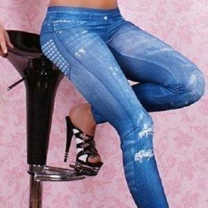 Diamond siniset farkkuleggingsit