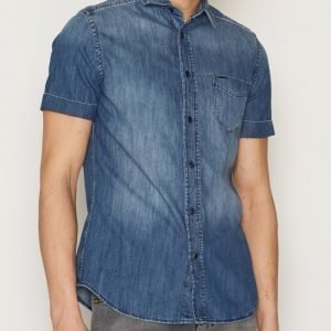 Diesel D-Kendall Shirt Kauluspaita Deniminsininen