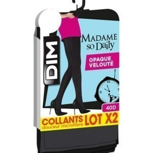 Dim Madame So Daily Opaque 40 Den Sukkahousut 2-Pack