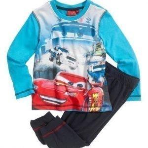 Disney Cars Pyjama Sininen Tummansininen