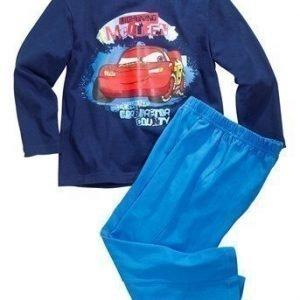 Disney Cars Pyjama Tummansininen Sininen