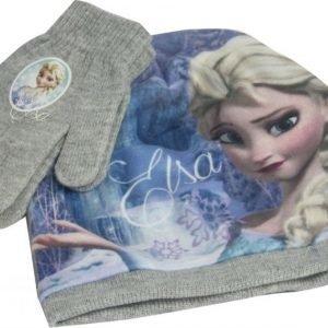 Disney Frozen Frozen Pipo ja sormikkaat Setti Harmaa