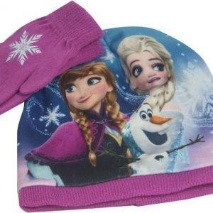 Disney Frozen Frozen Pipo ja sormikkaat Setti Luumu