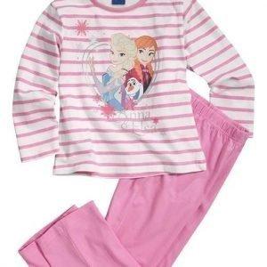 Disney Frozen Pyjama Roosa Valkoinen