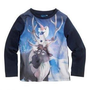 Disney Frozen T-paita Tummansininen Kuvioitu