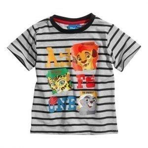 Disney Lejonkungen T-paita Mel. harmaa Raidallinen