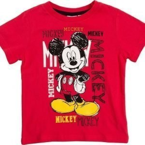 Disney Mickey Mouse Disney Mickie Mouse T-paita Red