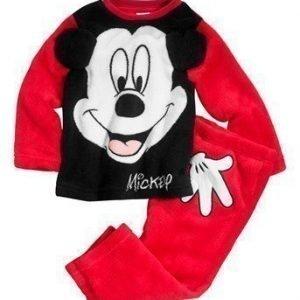 Disney Mickey Mouse Fleecesetti Punainen Musta