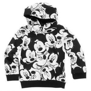 Disney Mickey Mouse Huppari Musta Valkoinen