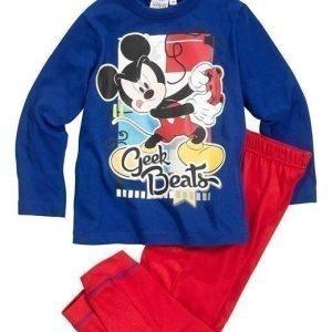 Disney Mickey Mouse Pyjama Sininen Punainen