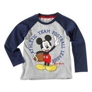Disney Mickey Mouse T-paita Laivastonsininen Mel. harmaa