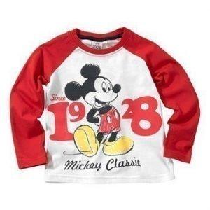 Disney Mickey Mouse T-paita Punainen Valkoinen