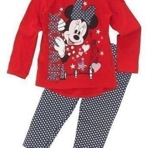 Disney Minnie Mouse Pyjama Punainen Tummansininen