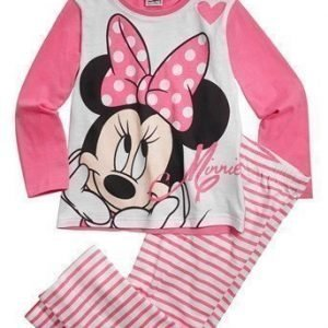 Disney Minnie Mouse Pyjama Roosa Valkoinen