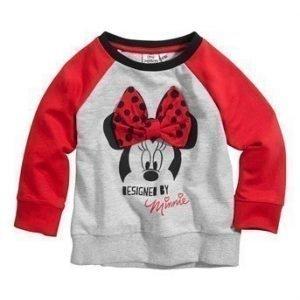 Disney Minnie Mouse Svetaripaita Mel. harmaa Punainen