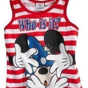 Disney Minnie Mouse Toppi Punainen Raidallinen